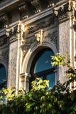 Mur de Chambre avec le bas-relief dans le style antique Photo libre de droits