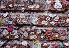 Mur de chewing-gum Photo libre de droits