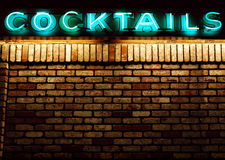 Mur de cocktails Image stock