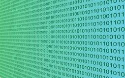 Mur de code binaire Images libres de droits
