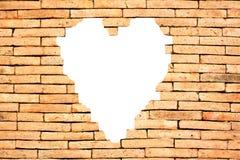 Mur de coeur image stock