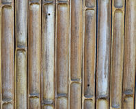 Mur de coupe de bambou avec le fond de clou Image libre de droits