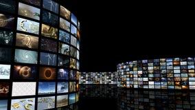 Mur de déroulement animé de vidéo de cinéma Boucle-capable 3D rendant 4k banque de vidéos