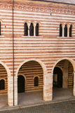 Mur de della Ragione de Palazzo dans la ville de Vérone Photos libres de droits