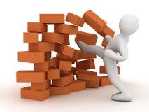 Mur de destruction Image libre de droits