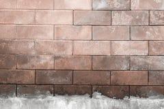 Mur de fond fait de briques fort Images stock