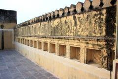 Mur de fort sur la terrasse Photo libre de droits