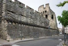 Mur de forteresse à Avignon photo libre de droits
