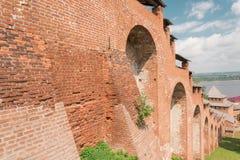 Mur de forteresse de Kremlin Photographie stock libre de droits