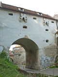 Mur de fortification de fotress de Brasov Images stock