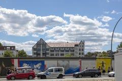 mur de fragment de Berlin photographie stock