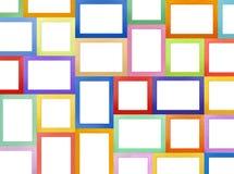 Mur de galerie de cadres de tableau image stock