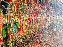Mur de gomme à Seattle Washington Photographie stock libre de droits