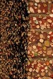 Mur de gomme de ruelle de poteau image libre de droits