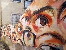 Mur de graffiti à Lisbonne Portugal photo libre de droits