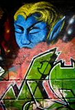 Mur de graffiti photo stock