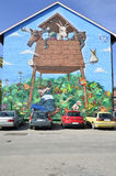 Mur de graffiti images stock
