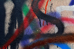 Mur de graffiti Image libre de droits