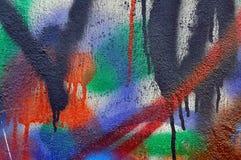 Mur de graffiti Photos libres de droits