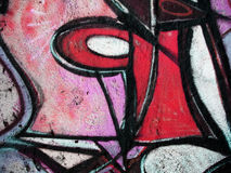 Mur de graffiti Images libres de droits