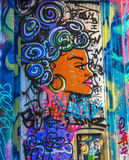 Mur 1 de graffiti image libre de droits