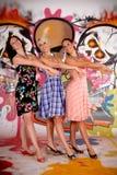 Mur de graffiti d'amusement d'amis Image libre de droits