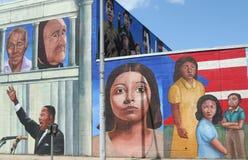 Mur de graffiti de Martin Luther King image libre de droits
