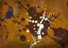 Mur de grunge d'éclaboussure Images stock