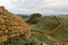 Mur de Hadrians, près de Housesteads Images libres de droits