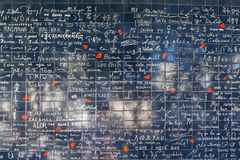 Mur de l'amour à Paris Photos libres de droits
