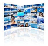 Mur de l'hiver Photographie stock