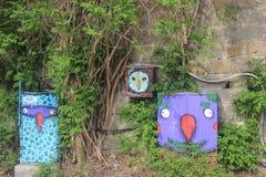 Mur de la rue art Photographie stock libre de droits
