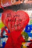 Mur de Lennon à Prague Photos libres de droits