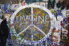 Mur de lennon de John Photographie stock libre de droits