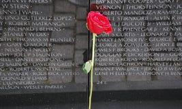 Mur de mémorial de vétéran du Vietnam photographie stock libre de droits