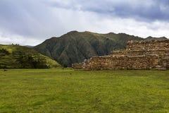 Mur de maçonnerie d'Inca dans le village de Chinchero, au Pérou Photo stock