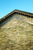 Mur de maison de logement rurale traditionnelle chinoise de l'Asie avec la conception et le modèle classiques dans le style orien images libres de droits