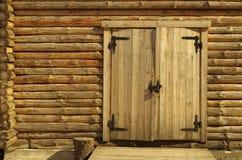 Mur de maison en bois Image libre de droits