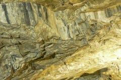 Mur de marbre au lieu de l'extraction en pierre image stock