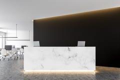 Réception de marbre dans le lobby blanc de bureau illustration