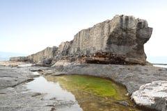 Mur de mer de Batroun Phoenecian, Liban Photographie stock libre de droits