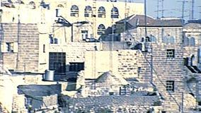 mur de minaret externe de J?rusalem de ville vieux banque de vidéos