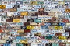 Mur de modèle de texture de fond de plaque minéralogique Photo stock