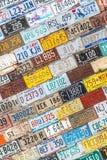 Mur de modèle de texture de fond de plaque minéralogique Photo libre de droits
