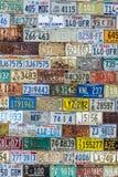 Mur de modèle de texture de fond de plaque minéralogique Photographie stock