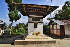 Mur de Monastry, village de Silerygaon, Sikkim Image stock