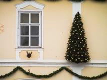 Mur de Noël Photographie stock