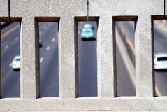 Mur de passage supérieur d'autoroute Photo libre de droits