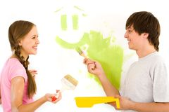 Mur de peinture Image stock