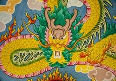 Mur de peinture de dragon Photographie stock libre de droits
